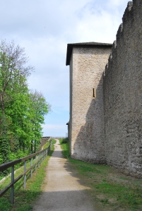 One of the trails along the medieval walls on Mönchsberg.