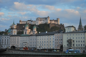 The sun setting over the beautiful city of Salzburg.
