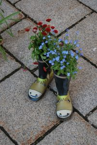 What do you do with old rain boots?
