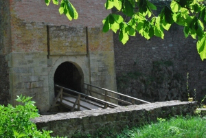 The bridge leading into the castle ruins. We didn't encounter any ghosts.