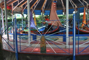 The Gondolas, one of the three carousels in the Parco di Pinocchio.