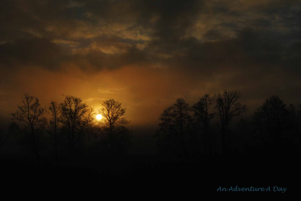 The sun rising over Bavaria
