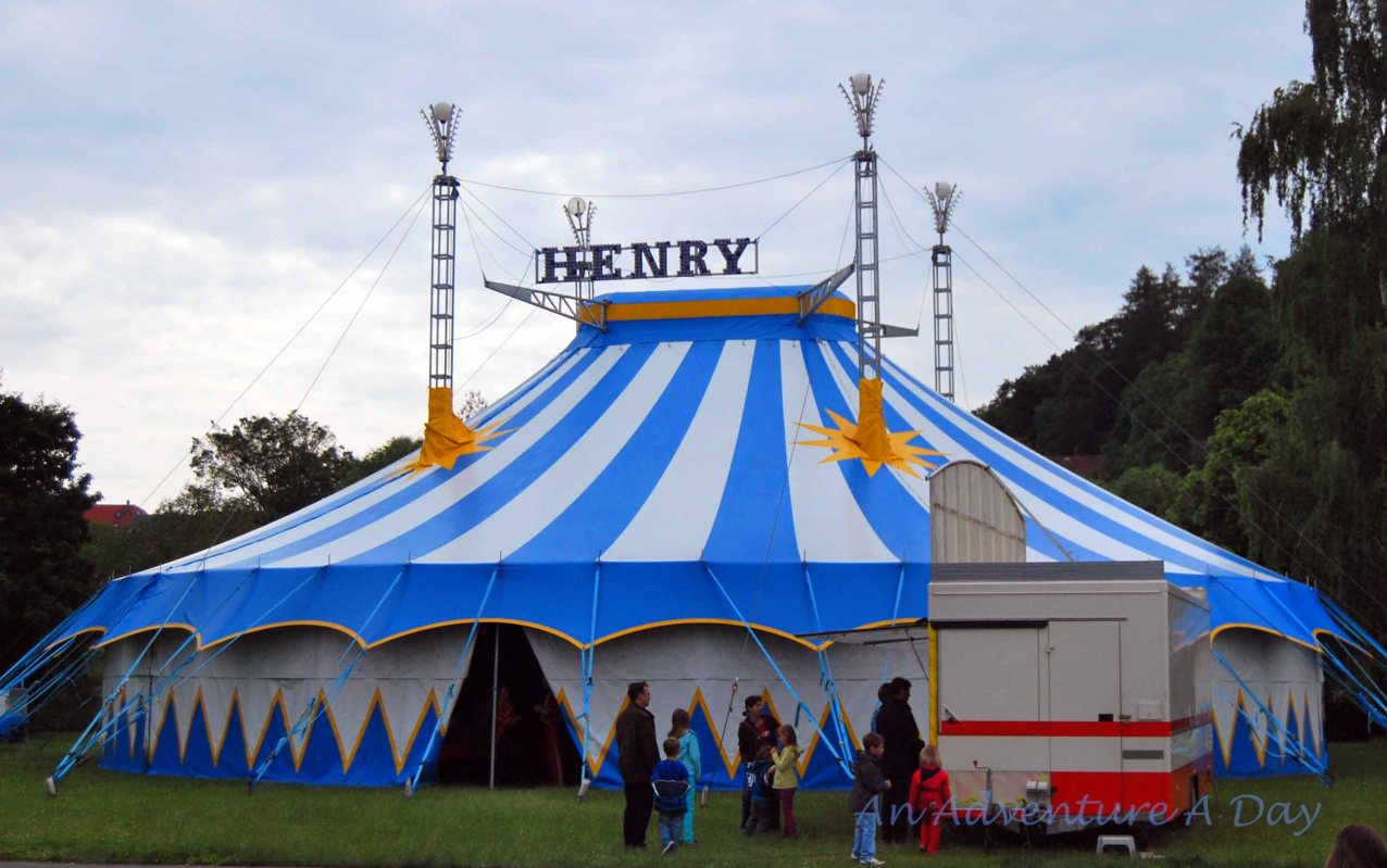 The main tent for The Circus Henry.