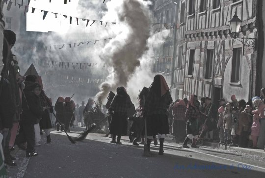 Witches on the street, it must be time for Fasching.