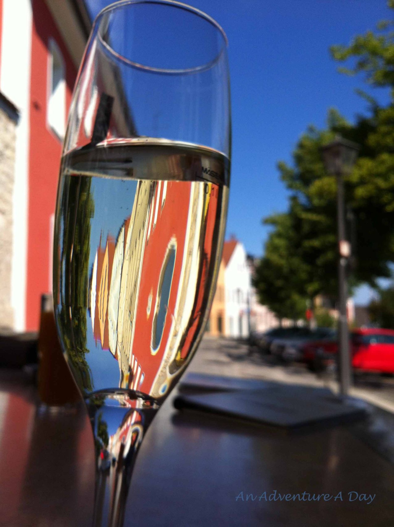 A leisurely glass of Secco on a lovely summer day.