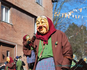 Some Fasching masks are comical.