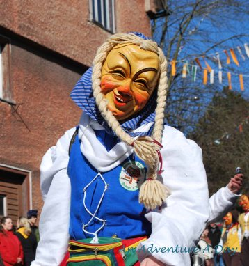 Some Fasching masks are friendly
