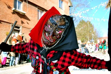 Some Fasching masks are frightening