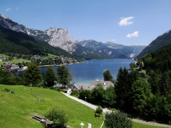 Sometimes you can't wait to get in the Alpine lakes - Austria's Salzkammergut