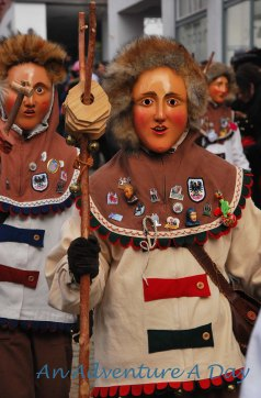One of the various Fasching groups in Pfullendorf - the Nidler