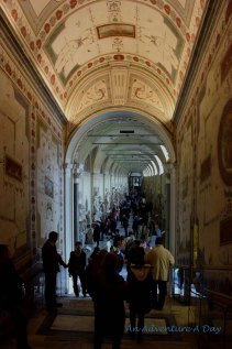 The stunning, but crowded hallways of the Vatican Museum