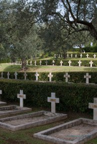 The French Military Cemetery on Monte Mario is a beautiful and solemn area