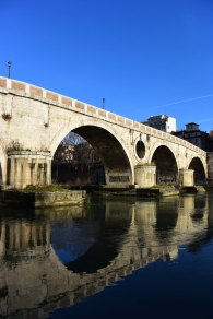 The Lungotevere is a beautiful respite from the noise of the streets above.