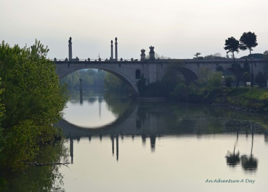 The view from the pedestrian bridge at Ponte Milvio is lovely, and easily accessible along the Lungotevere.