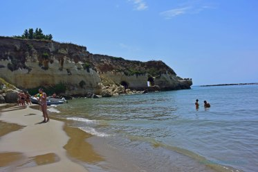 The beaches in Anzio were at the base of large cliffs. It was a lovely place to spend the day.