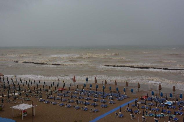 Stormy beautiful beach