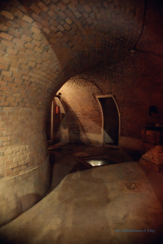 The bunker is large enough to drive a car into.
