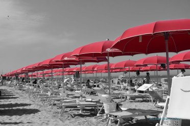 We rented an umbrella and two beach chairs for the day from a private beach club in Anzio.