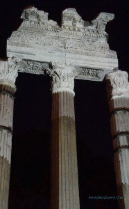 The remains of the temple of Venus were beautifully illuminated.