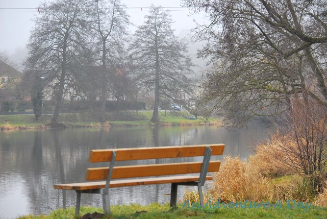 A place to rest in the silent fog of morning.