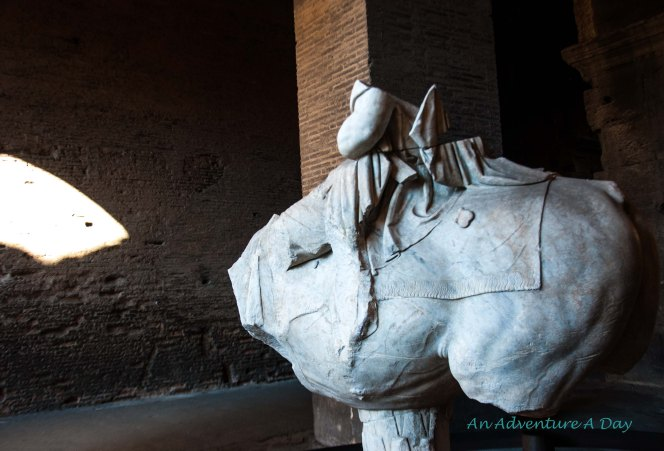 The remains of a mysterious figure on horseback were discovered near the Colisseum