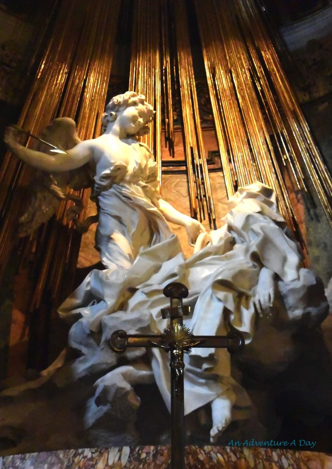 The statue by Gian Lorenzo Bernini can be found in Santa Maria della Vitoria on via XX Settembre