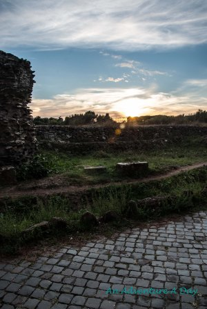 Catching the beautiful light along the Appia Antica