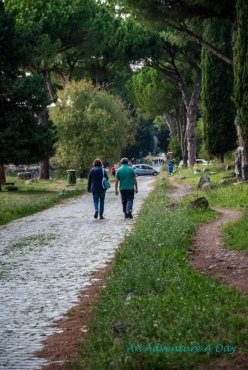 Visitors to the Appia Antica can stroll or bike along the ancient roads. Unfortunately, the road is also open to automobile traffic every day except Sunday.