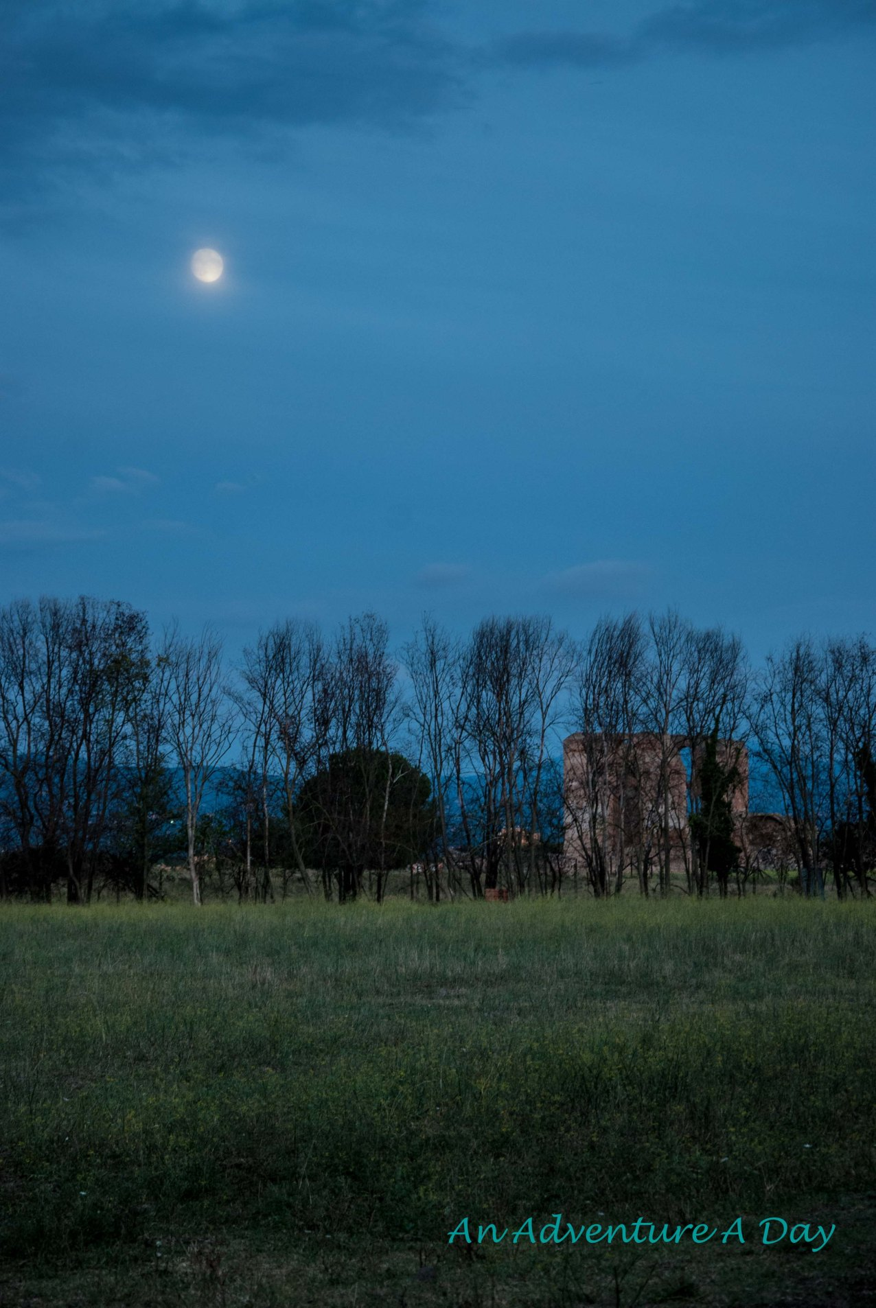 Moonrise on the Appia Antica