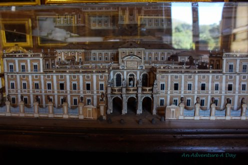 A miniature model of the palazzo