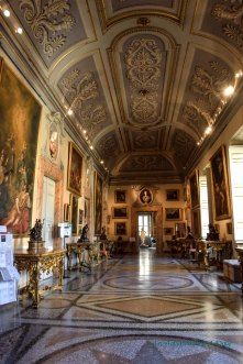 One of the gallery halls of the Corsini Gallery