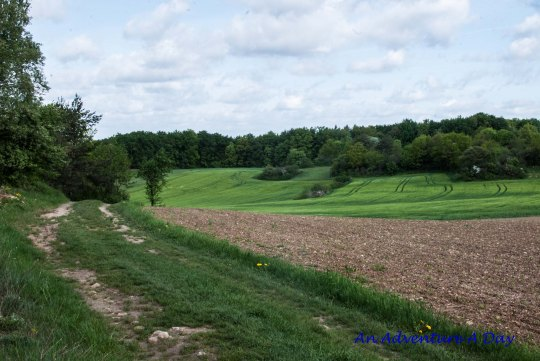 Hiking trails meander through farmland and forests.