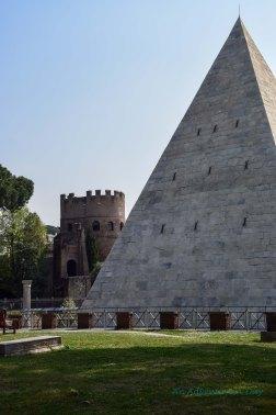 pyramid and tower
