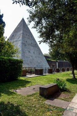 pyramid in the garden